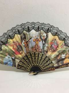 vintage paper fan
