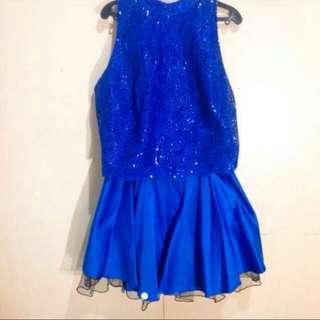Blue Sequinn Party Dress