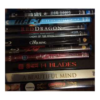 Various prewatched originals blurays dvd conjuring iron sky red dragon etc