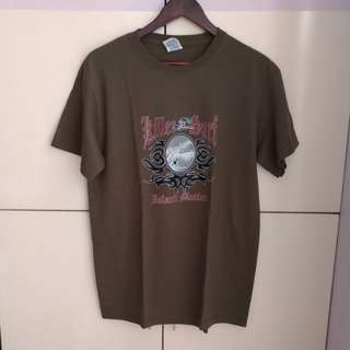 Army Green Graphic T-shirt from Hawaii