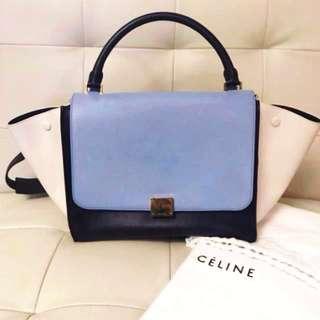 ✨Celine Trapeze medium lavender blue bag