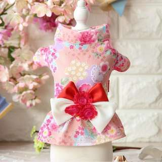 SAKURA PINK KIMONO FLARE DRESS