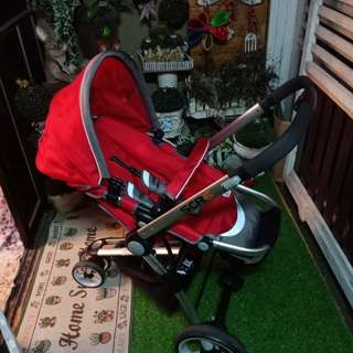 stroller SCR6 + CAR SEAT SCR 7 (preloved)