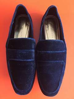 Zara velvet shoes