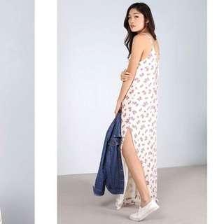 Love, Bonito Darda Lace Up Back Maxi Dress in Floral