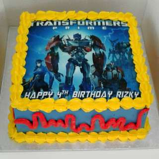 Transformers Edible Print Cake