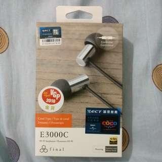 Final audio e3000c 耳機