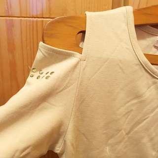 新貨💞全新露膊連身裙beige dress