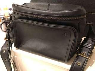 Agnes b camera leather bag