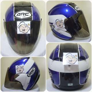 2602***ARC AR1 TIARA BLUE v TINTED VISOR Helmet For Sale 😁😁Thanks To All My Buyer Support 🐇🐇 Yamaha, Honda, Suzuki