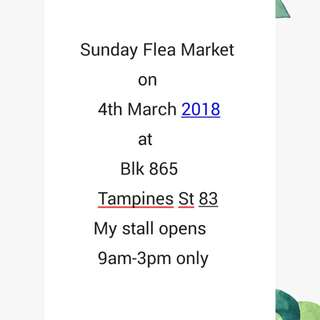 Flea Market on 4th March 2018