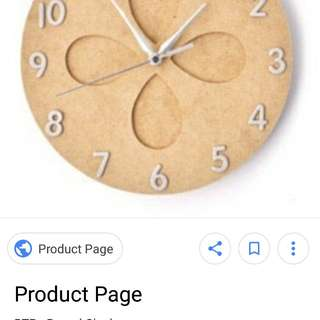 Craft wooden kaisercraft round clock with clock.mechanism