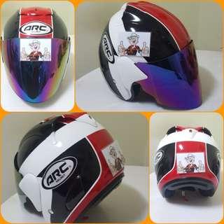 2602***ARC AR1 TIARA BLUE v TINTED VISOR Helmet For Sale 😁😁Thanks To All My Buyer Support 🐇🐇 Yamaha, Honda, Suzuki
