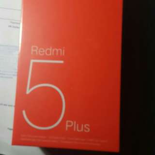 紅米5plus 64GB ROM 行货 全新未開