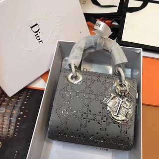 Lady Dior Mini in Grey