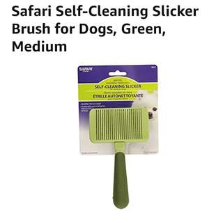 Safari Self-Cleaning Slicker Brush, Medium