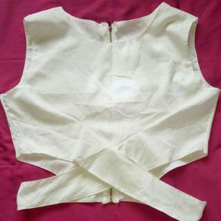 Preloved White Crop Top