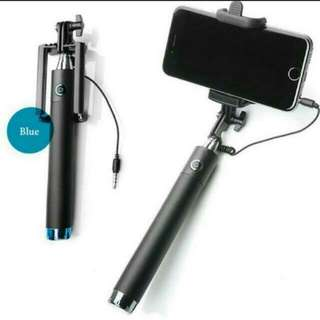 BN Extendable Folding Wired Self Selfie Stick Monopod For All Mobile Phones Selfies Selfiepod
