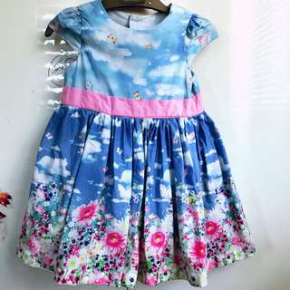 Infant girl dress in blue