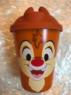 全新日本迪士尼可愛大鼻咖啡杯連蓋 350ml水杯 茶杯