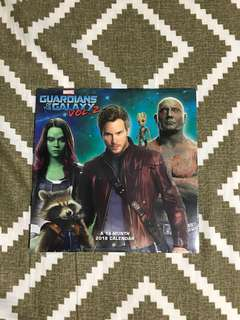 Guardians of The Galaxy 2 2018 Calendar