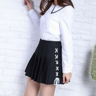 Plus Size Shoelace Skirt