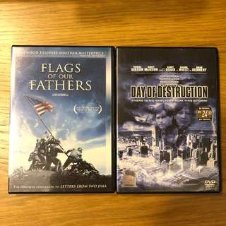 3 movies DVD for sale.
