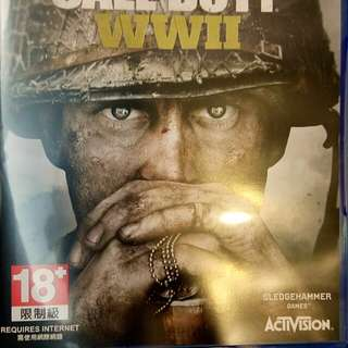 PS4 Call Of Duty 決戰時刻 二戰 9成新