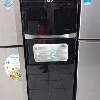 Kulkas merk aqua sanyo bisa kredit tanpa DP