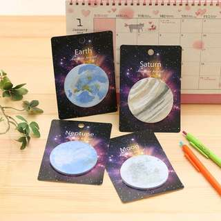 Planets Post-it Sticky Memo