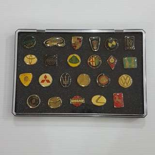 Millennium Motor Show Cars Pins + Display Case, Collectible