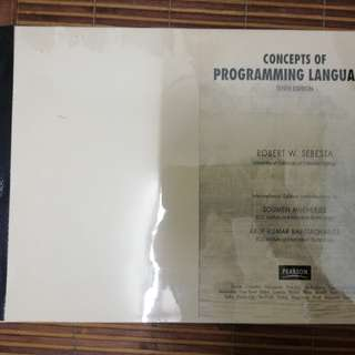 Concepts of Programming Languages - Photostat Copy