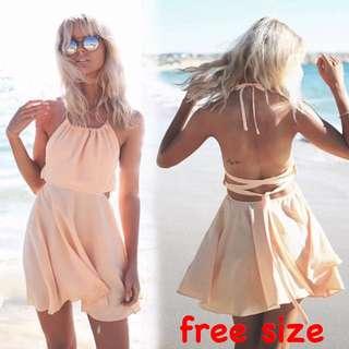 Chiffon Backless Dress