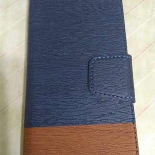 ( 全新)紅米4x樹紋皮套( 魅棕藍)連鋼化膜
