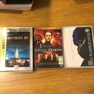 3 movies DVD for sale