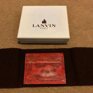 Brand new Lanvin lizard skin card holder.