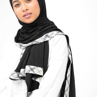 Black Tartan Hijab