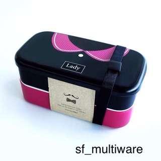 Lunch box motif baju ukuran besar