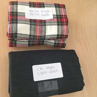 Plaid Flannel Cotton and Denim Fabric