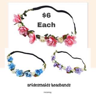 Ladies Bridesmaids Headbands
