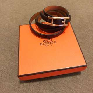 100% authentic and brand new Hermès burgundy bracelet - M size.