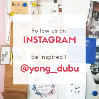 Follow @yong_dubu on Instagram!
