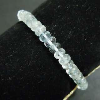 海藍寶天然水晶手串(B204)