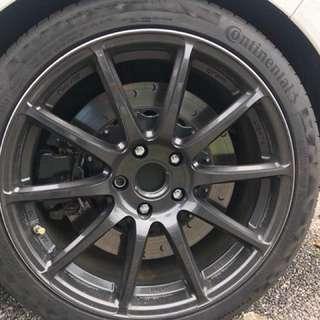 vw golf r rear brake kit full set brake pad used two month ori rotor 345mm