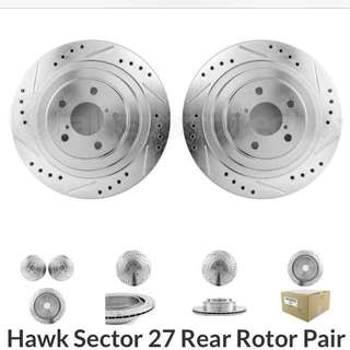 Hawk sector 27 rear rotor pair for Subaru wrx