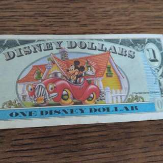 珍藏美國disneyland 65th 週年鈔票