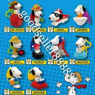 (1套10隻)全新 2018 McDonald's 麥當勞 Peanuts Snoopy 史路比 史諾比 公仔 玩具