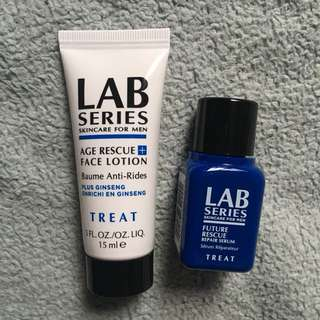 Lab Series AGE RESCUE+ FACE LOTION & FUTURE RESCUE REPAIR SERUM Sample