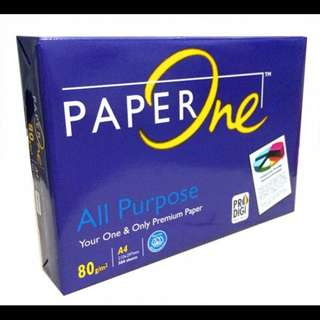 Paper One brand A4 copier paper 80 gsm (1packs / 500sheets)