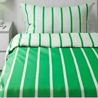 Sprei IKEA hijau salur